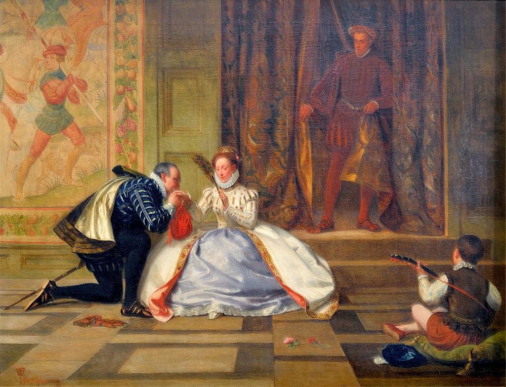『エリザベス女王とレスター伯の肖像画』ウィリアム・フレデリック・イェームズ