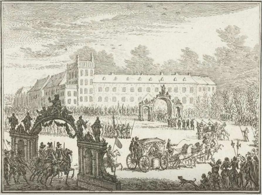 1586年のデン・ハーグでのレスター伯のパレードを描いた絵画