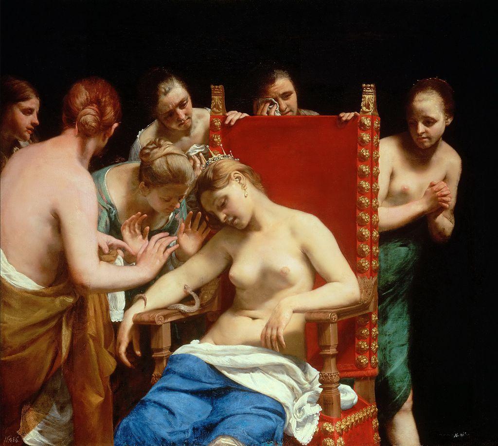 『クレオパトラの死』 グイド・カニャッチ画 1658年