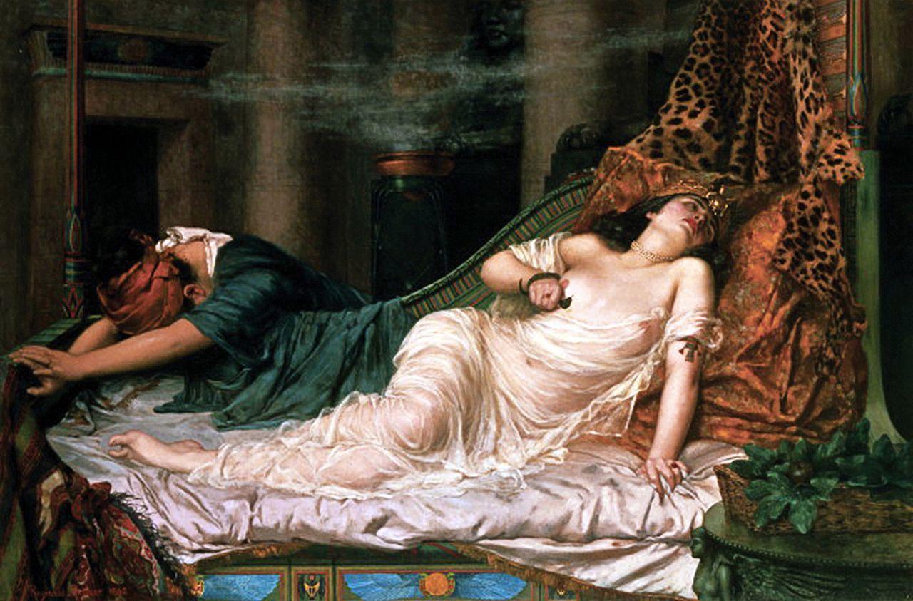 『クレオパトラの死』 レジナルド・アーサー 1892年