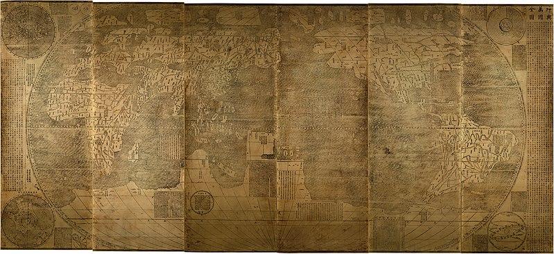 坤輿万国全図 1