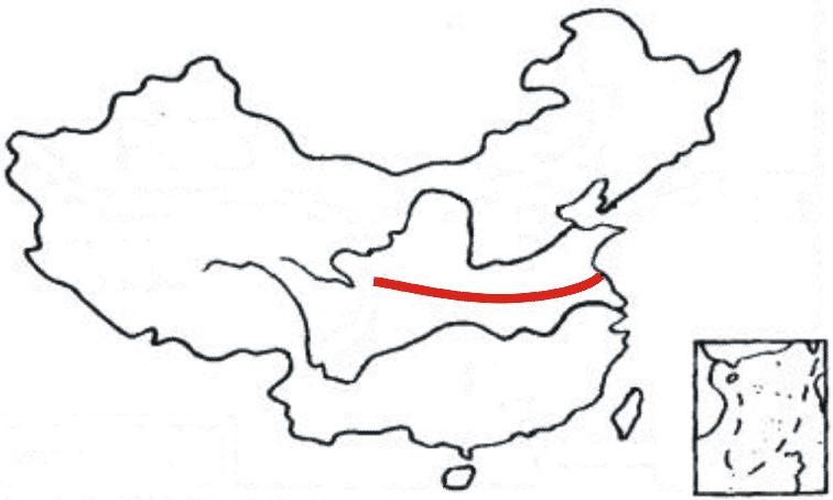 黄河と長江に南北を挟まれる形で流れる淮河