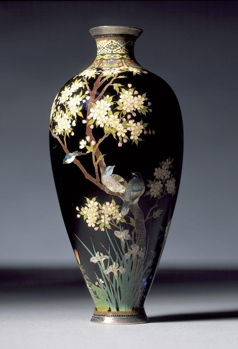 『花鳥文花瓶』並河靖之