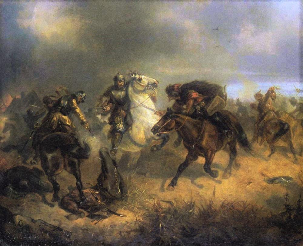 ポーランド兵と戦うクリミア・タタール戦士