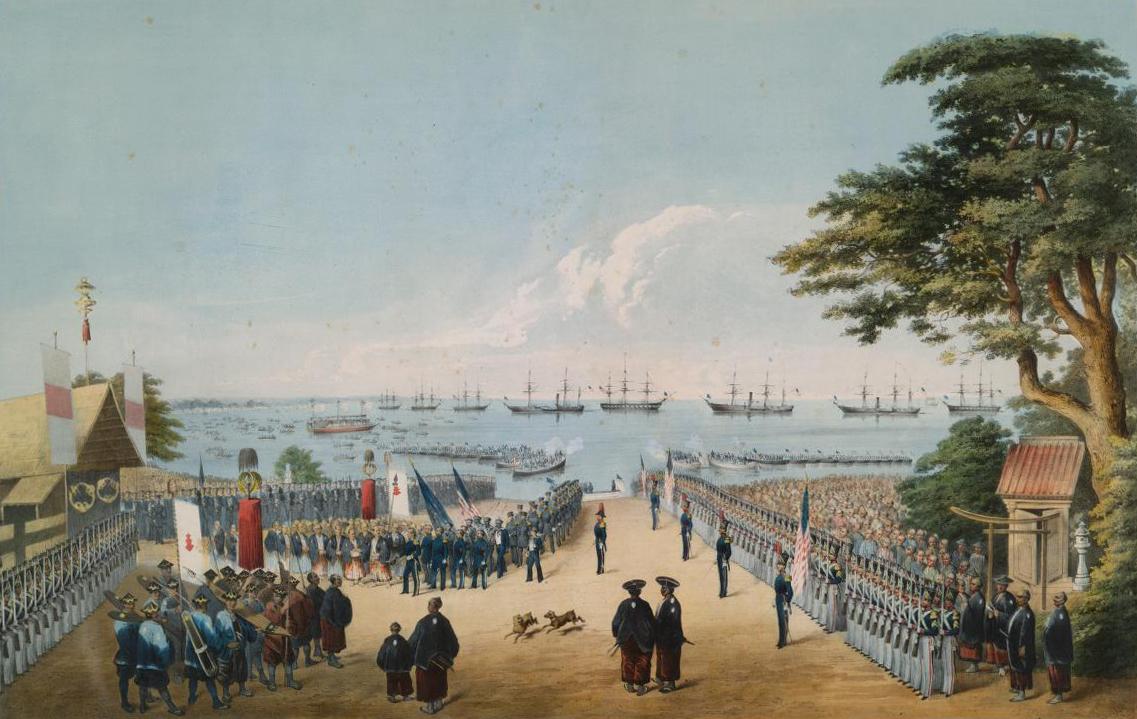 嘉永7年(1854年)横浜への黒船来航