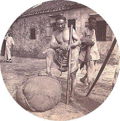 1900年頃の中国人の苦力(江蘇省)