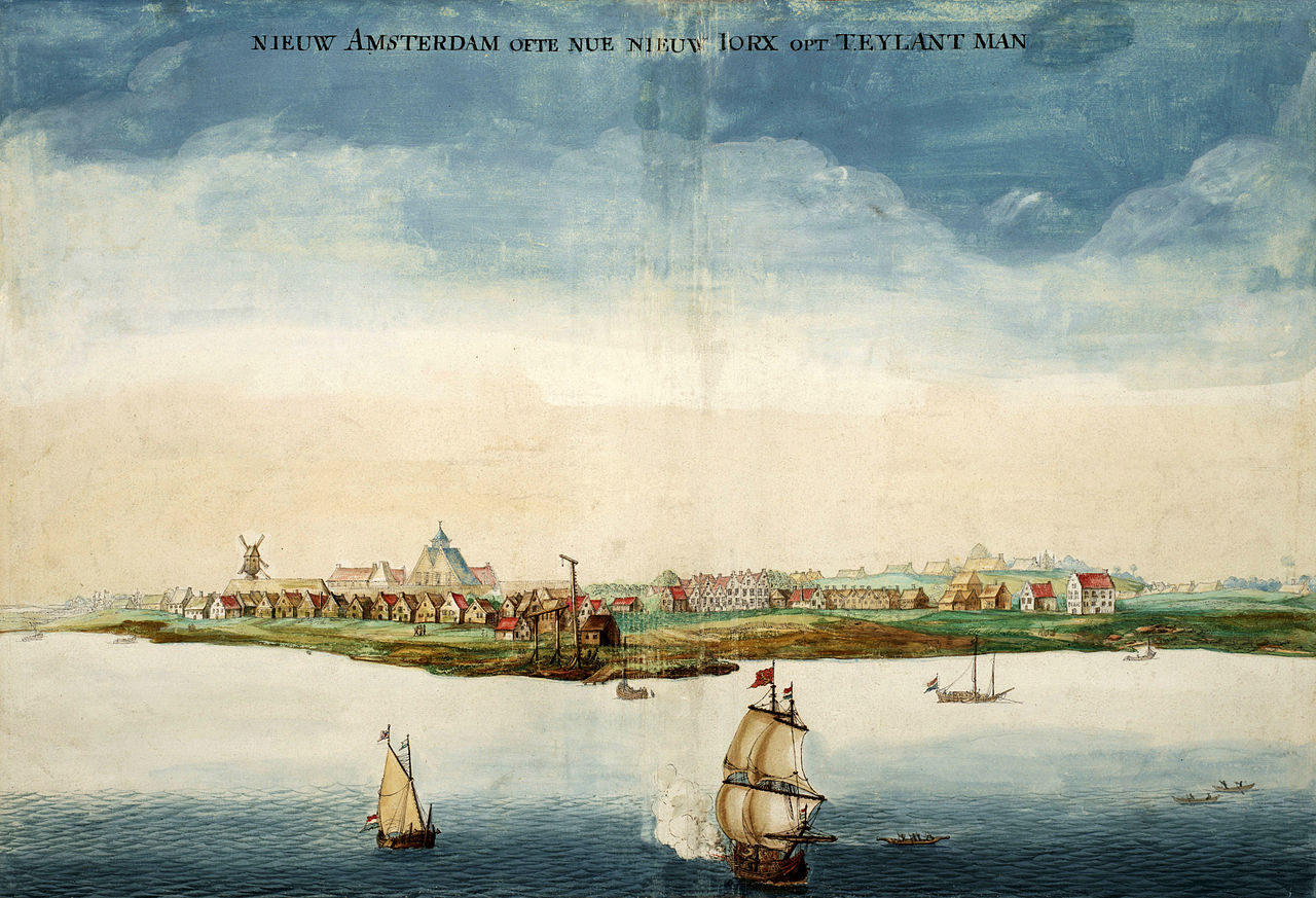 1650年代のニューアムステルダム。