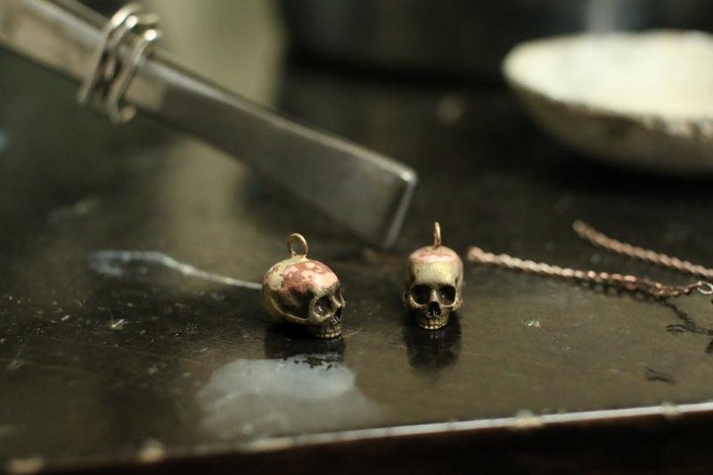 大田区 池上 パンタレイ panta rhei イワキ精工 シルバー 真鍮 アクセサリー ギャラリー 髑髏