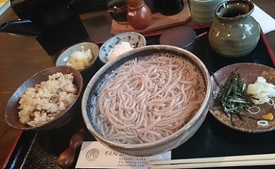 田舎釜揚げ蕎麦セット1,050円