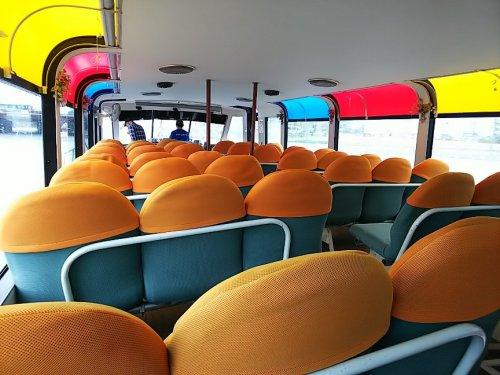 1船上バス船内