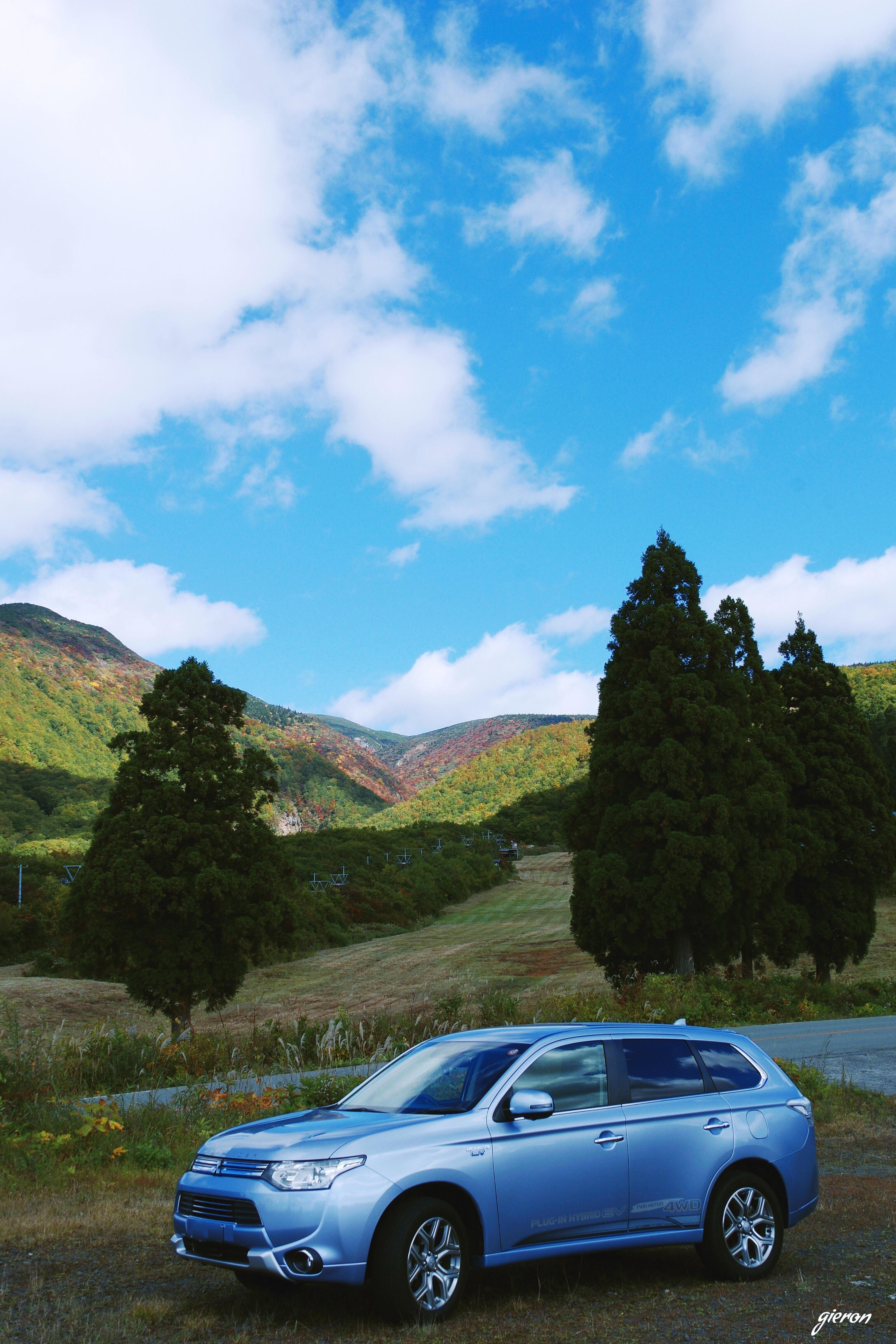 Mitsubishi Outlander phev アウトランダーPHEV 東北ドライブ旅行2017