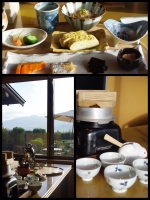 山形 上山温泉 名月荘 扇 宿泊記 部屋食朝食 和食