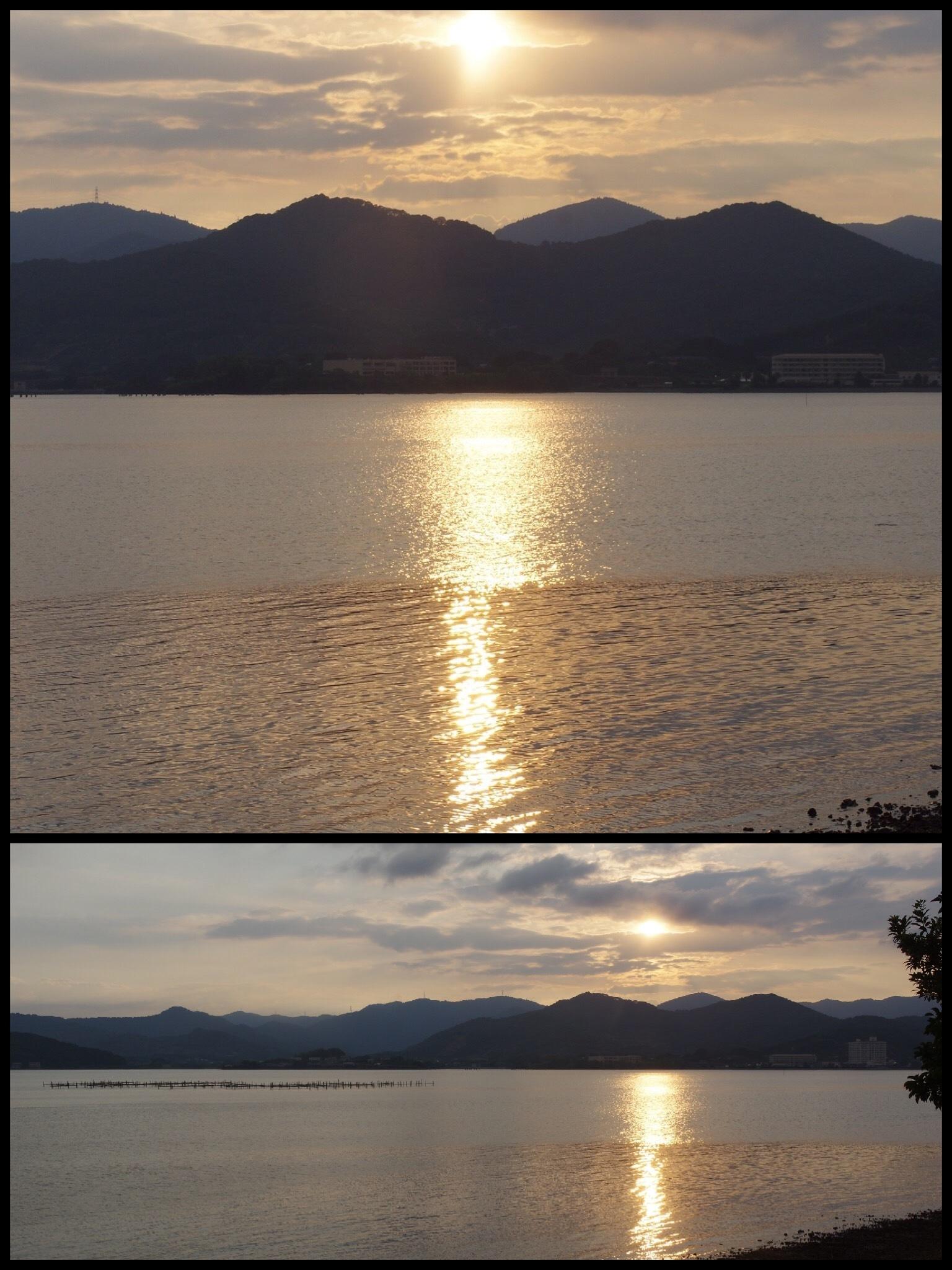 2017年お出かけ 浜名湖に沈む夕日