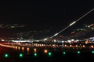 着陸の風景