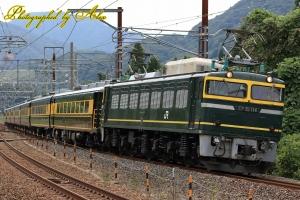 9915レ「サロンカーいこま号」(=EF81-114牽引)