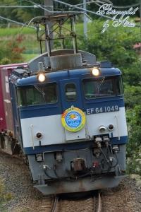 3084レ(=EF64-1049牽引、広島公開HM付)