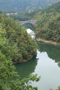 第一只見川橋梁にて
