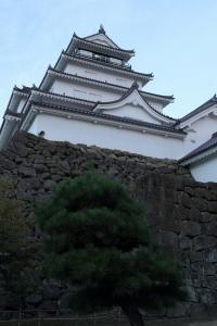会津若松城にて