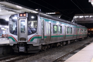 会津若松駅にて