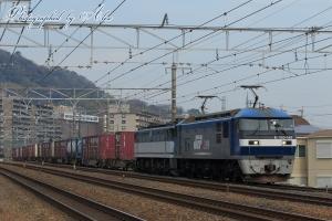 5085レ(=EF210-167牽引+EF65-2083ムド)