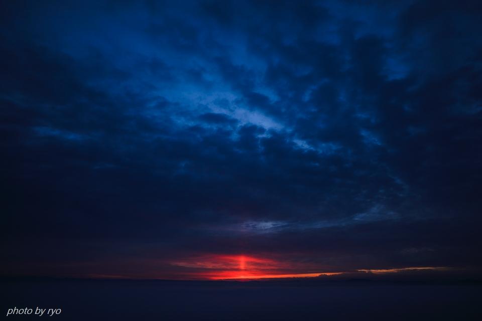 太陽柱の見えた朝_2