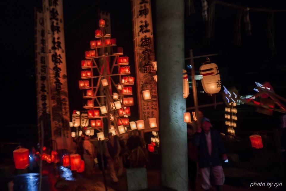 上津田稲生神社の神殿入 2017_2