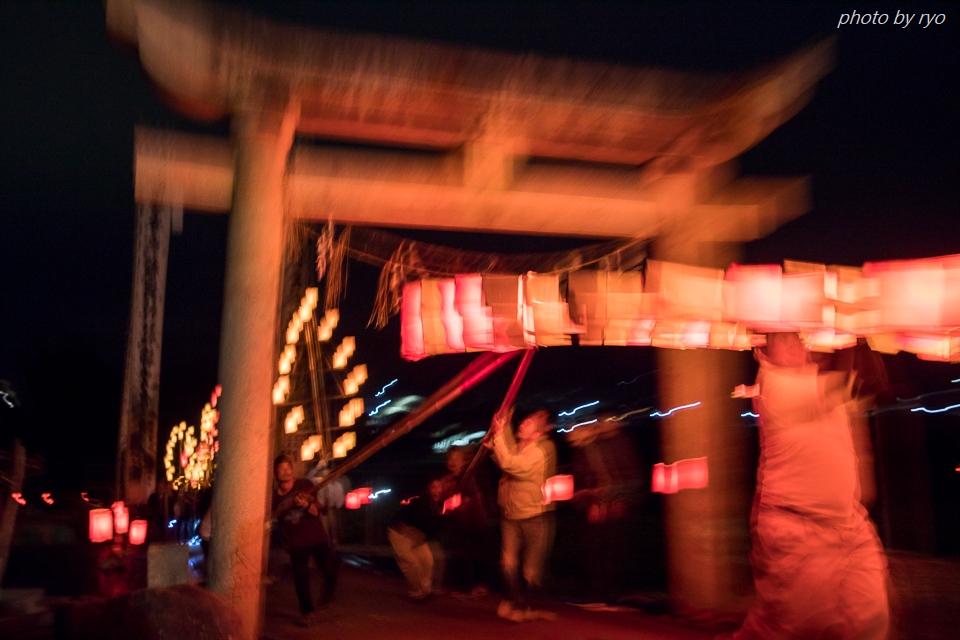 上津田稲生神社の神殿入 2017_3