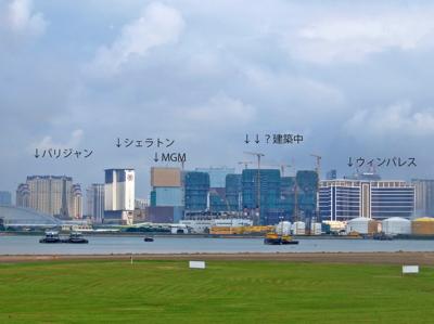 マカオ6272空港眺望