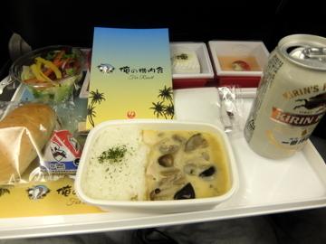 ハワイ006JAL機内食