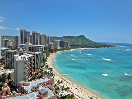 ハワイ011シェラトンラウンジ眺望