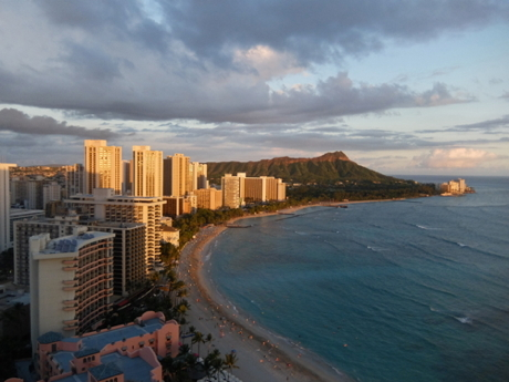 ハワイ026シェラトンラウンジ眺望