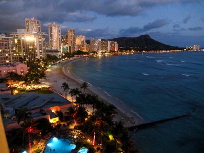 ハワイ033シェラトン夜景