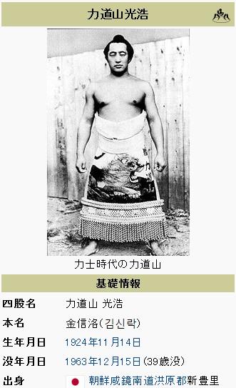 ⑧2017年11月26日夜貴乃花が石原裕次郎の歌を熱唱!昭和のヒーロー力道山は元韓国朝鮮人相撲力士!