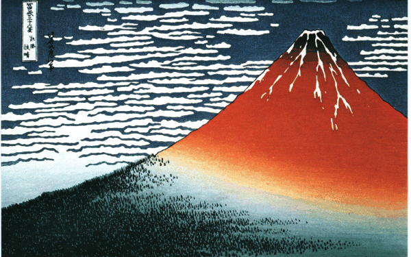 Hokusai-fuji7北斎赤富士