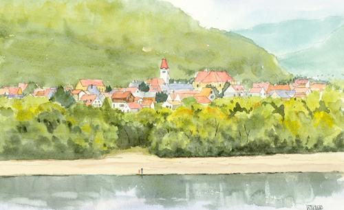 ドナウ対岸の村