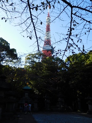 東京タワーと徳川家の墓所
