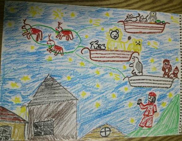クリスマス2京都府のトナクリまここ(小学4年生)