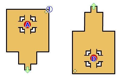 【ロストスフィア 攻略】 回廊遺跡ロス マップ 地図 宝箱 光るポイント キラキラ 【LOST SPHEAR】