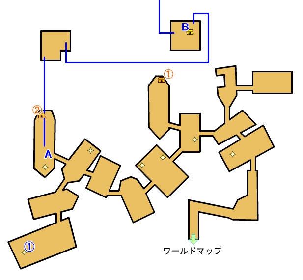 【ロストスフィア 攻略】 船の墓場 マップ 地図 宝箱 光るポイント キラキラ 【LOST SPHEAR】