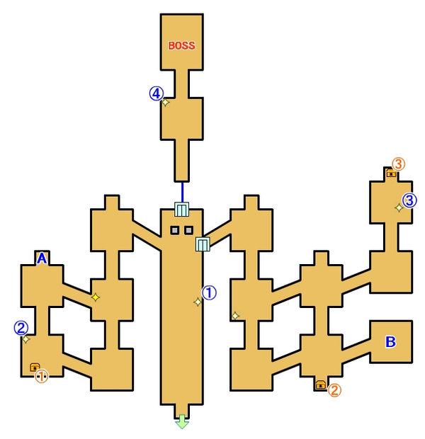 【ロストスフィア 攻略】 グレイシア大書院 マップ 地図 宝箱 光るポイント キラキラ 【LOST SPHEAR】