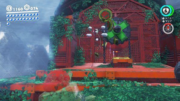 スーパーマリオ オデッセイ【パワームーンの入手方法】森の国スチームガーデン