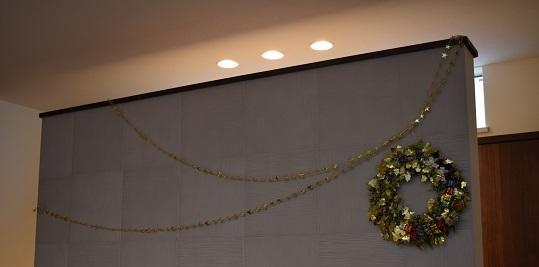 2017クリスマスTV壁