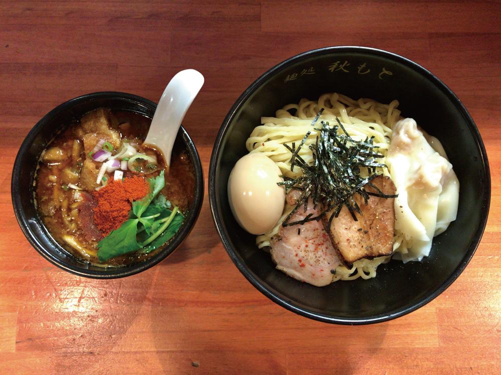 麺処 秋もと -- 特製なめこの麻~辣~赤味噌つけ麺(限定)