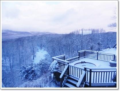 イブに雪が降りました
