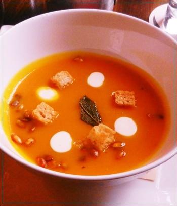 パンプキン&チーズスープ