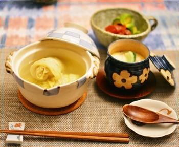 ロール白菜&茶碗蒸し