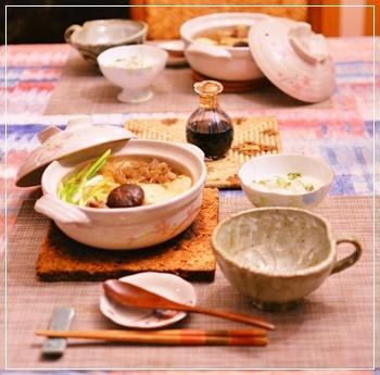 肉豆腐で夕飯