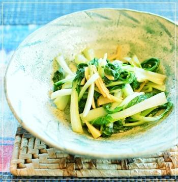 菜園の菜っ葉