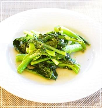 菜のgarlic炒め