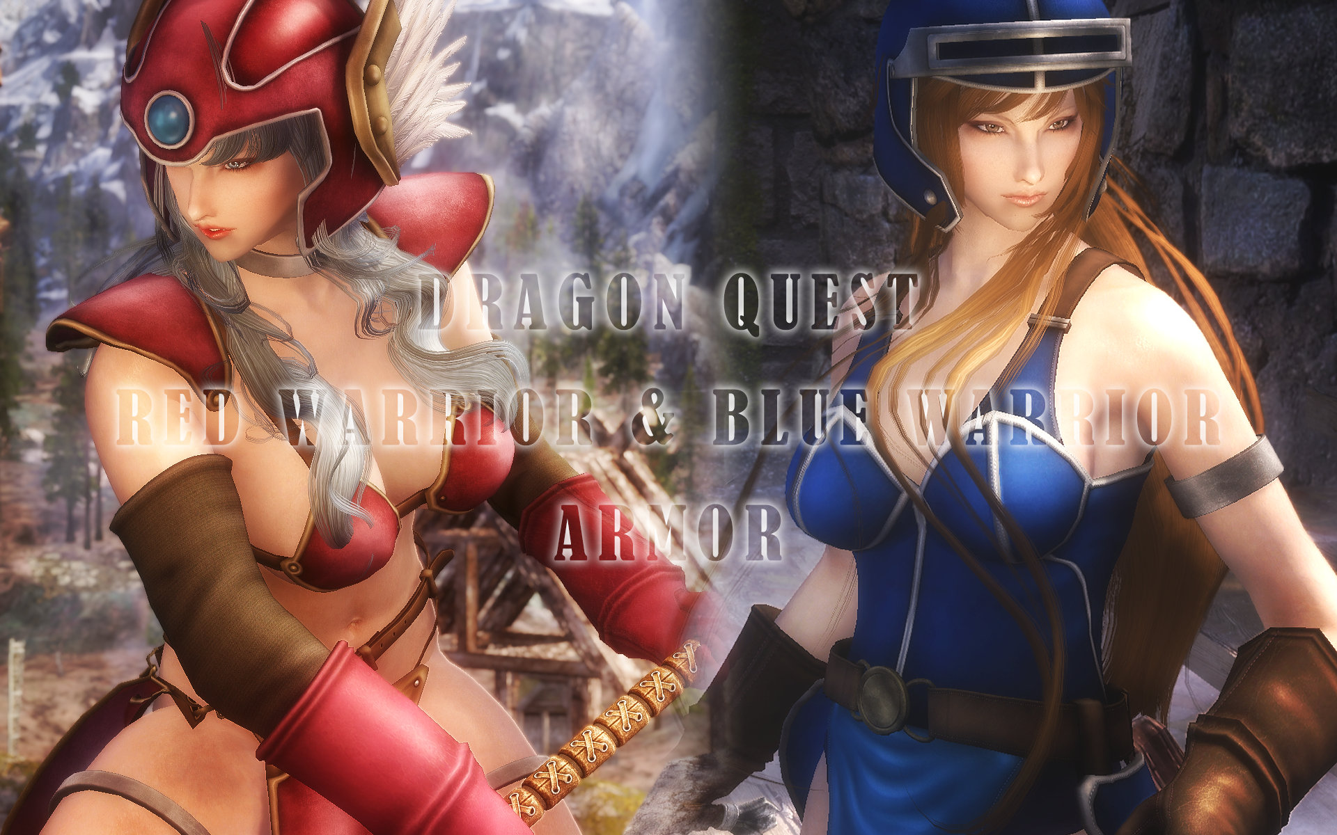 Dragon Quest Red Warrior & Blue Warrior Armor